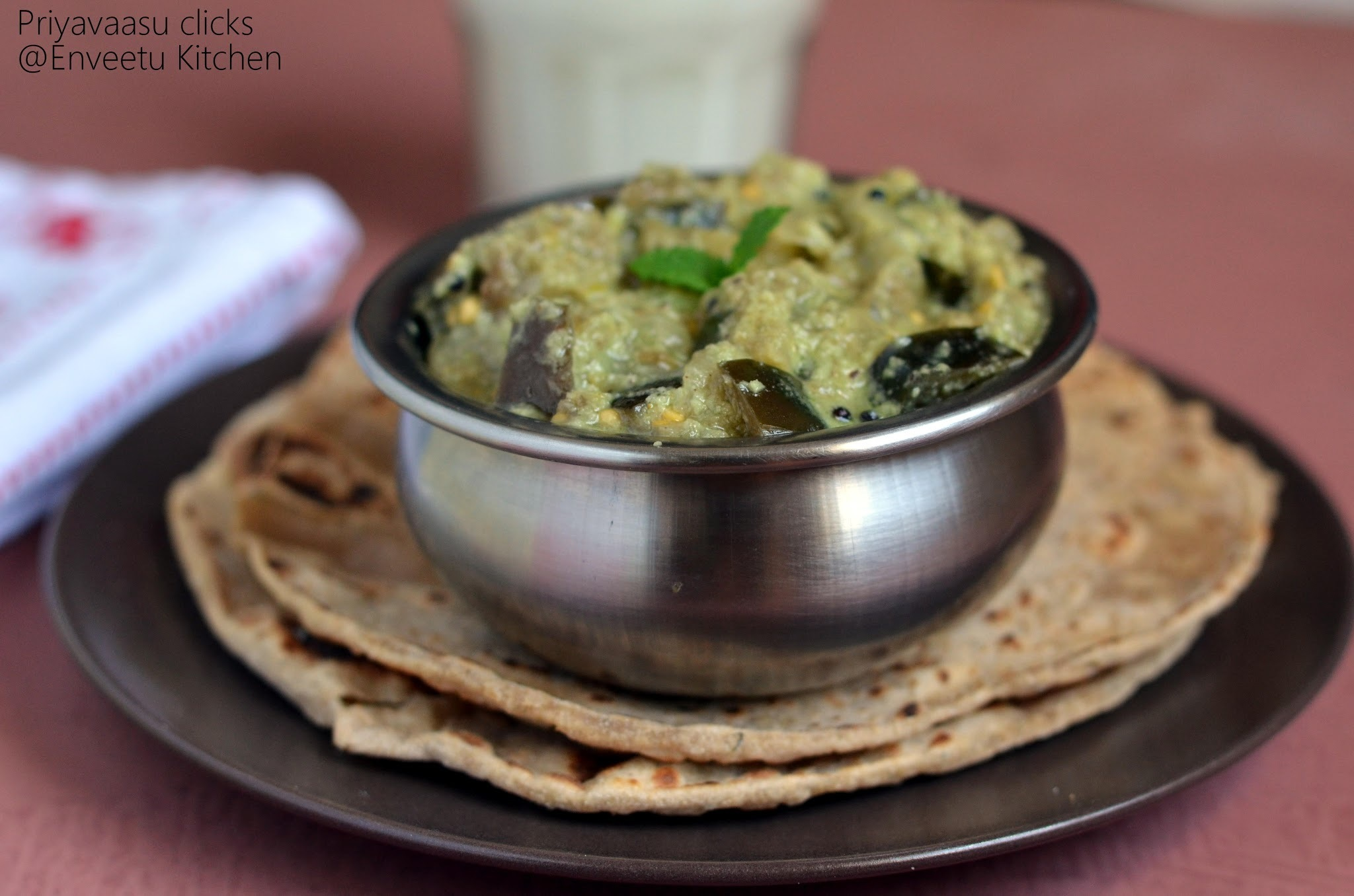 Upponkai/Brinjal and coconut curry - Side dish for Chapathi/Roti