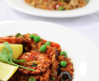 chorizo and prawn paella: slimmer's secret supercook challenge with the tefal actify.