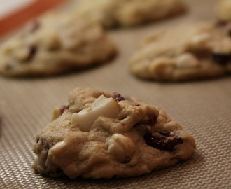 Cranberry, white chocolate, and macadamia nut cookies