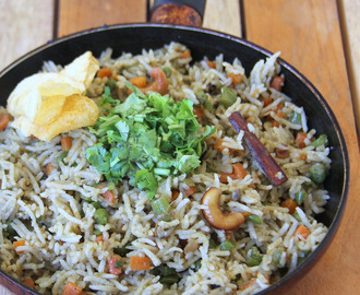 Jaipuri vegetable pulao -Vegetable Pulav recipe - Rice one pot meal - Party food