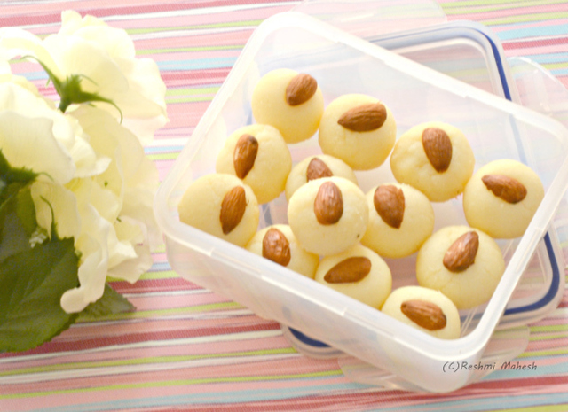 Ricotta cheese peda/sweet