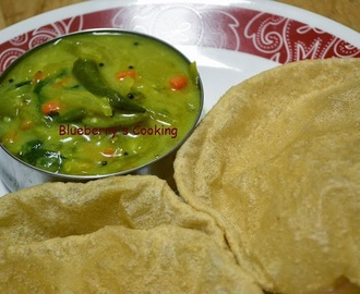 Poori Masal(a) - Without Potato/Urulaikizhangu - A Healthy twist in regular Potato Masala