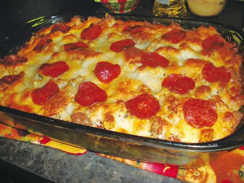 Λαχταριστό σουφλέ ζυμαρικών -pizza !Συνταγή για πάρτυ