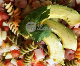 MEXICAN SHRIMP SALAD WITH BARILLA TRI-COLOR ROTINI