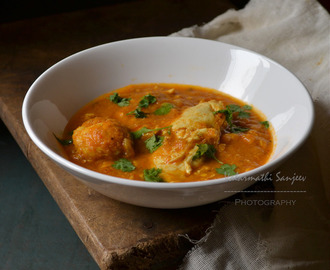 Poached Egg Curry - South Indian Style