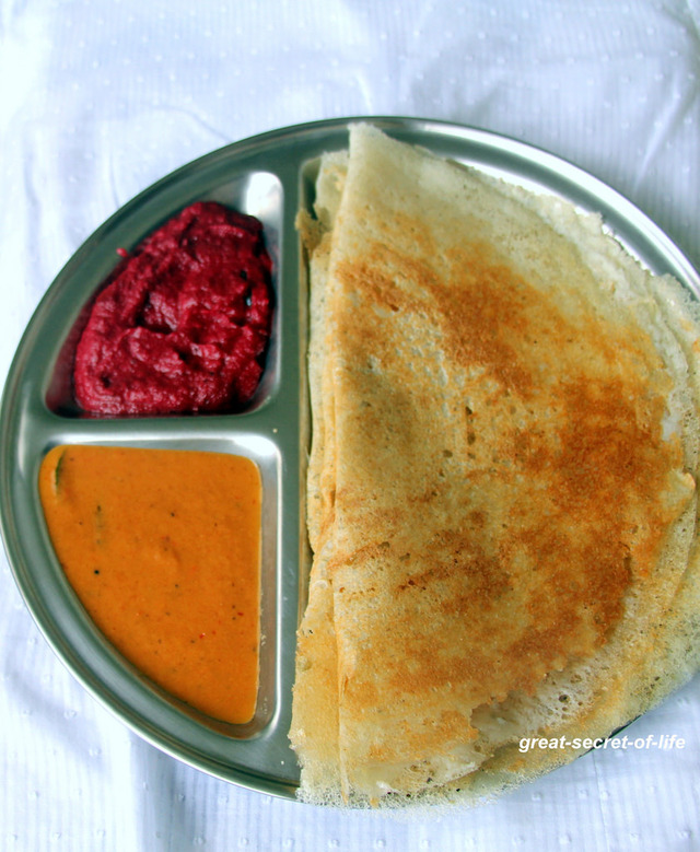 Sprouted Green Gram dhal Dosa - Healthy breakfast recipes