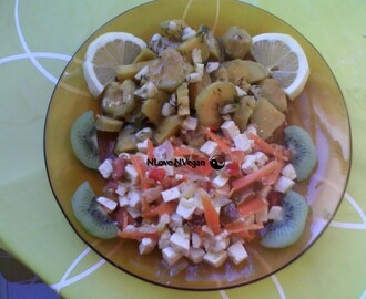 Batata doce com Tofu, Pimentos e Cenoura // Tofu with sweet potatoes, peppers and carrot