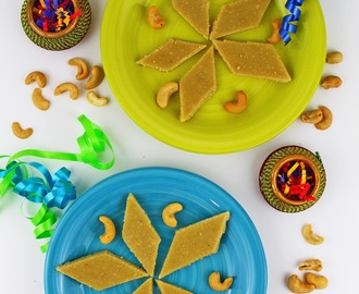 Kaju Katli Recipe | Cashew Barfi Recipe [Step by Step Pictures] | Diwali Sweets 2013