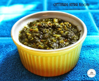 Chettinadu style No-Oil Keerai Kootu [ No-oil South-Indian Spinach Dal]