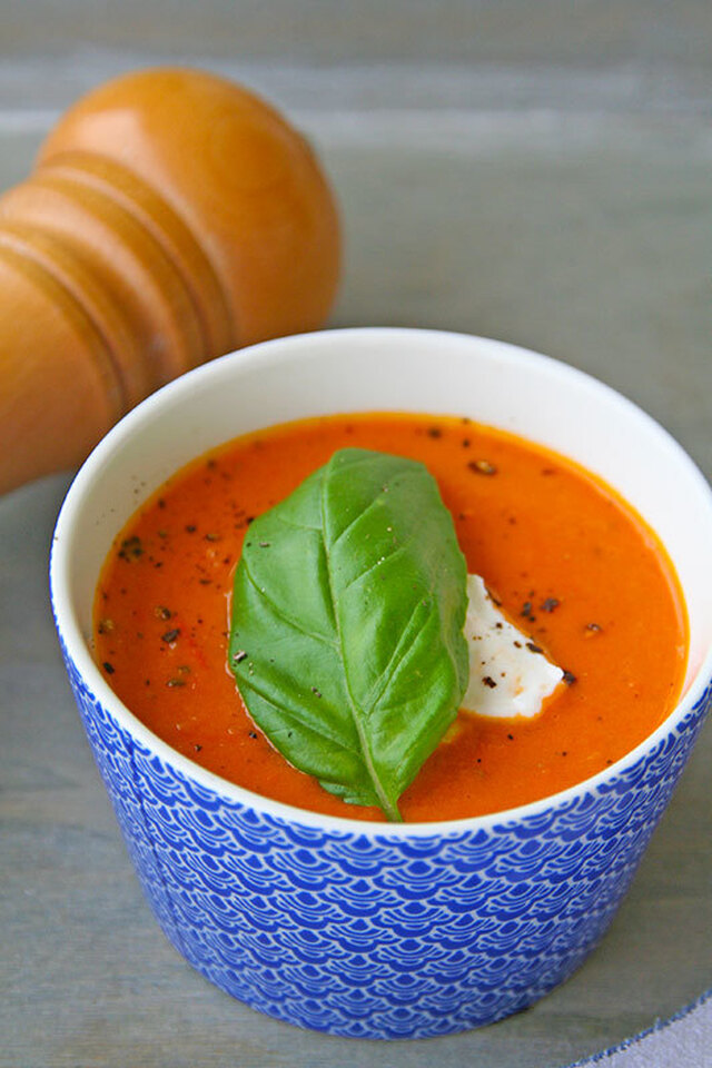 Roasted cherry tomato soup - Σούπα με ψητα ντοματίνια