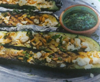 BBQ Geroosterde courgette met peterseliedressing (Jumbo)