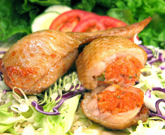 Stuffed Chicken Wings (Peek kai yud sai)