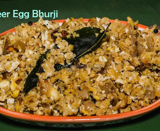 Paneer Egg Bhurji / How to make scramble Paneer Egg Bhurji