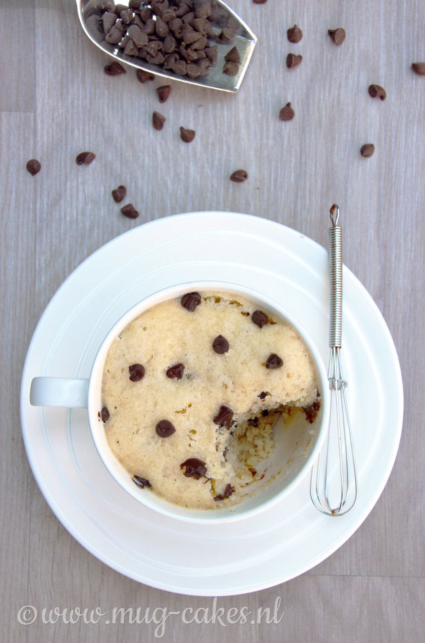 Chocolate chip mug cake zonder ei
