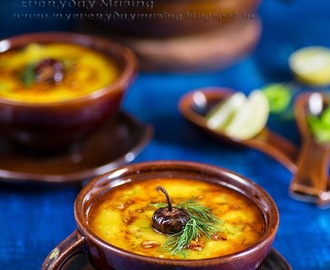 Soya Masoor Dal \ Split Red Lentil Soup with Dill Leaves