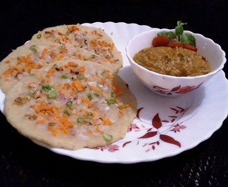 Oats uthappam recipe