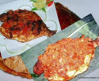 Meen Pollichathu / Fish cooked in Banana leaves
