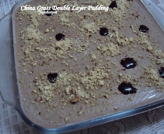 China Grass Double Layer Pudding