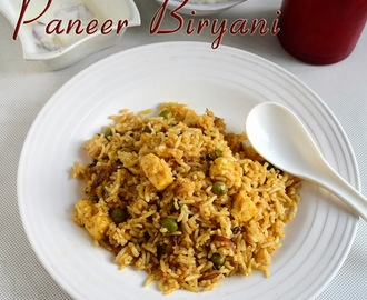 EASY PANEER BIRYANI RECIPE–PANEER RECIPES
