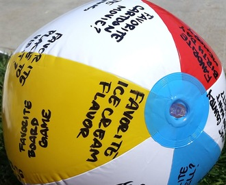 "Beach Ball ""Getting to know you game"""