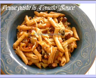 Penne all'arabiata/Pasta in simple tomato sauce, tried and tasted from Chef In You