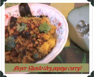 Peper Ghonto (Raw Papaya Curry)