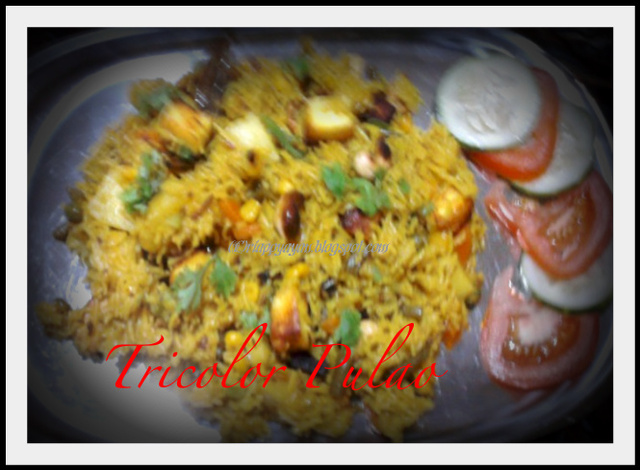 Combo Festive Menu : Tricolor Pulao and Potatoes with roasted poppy seed