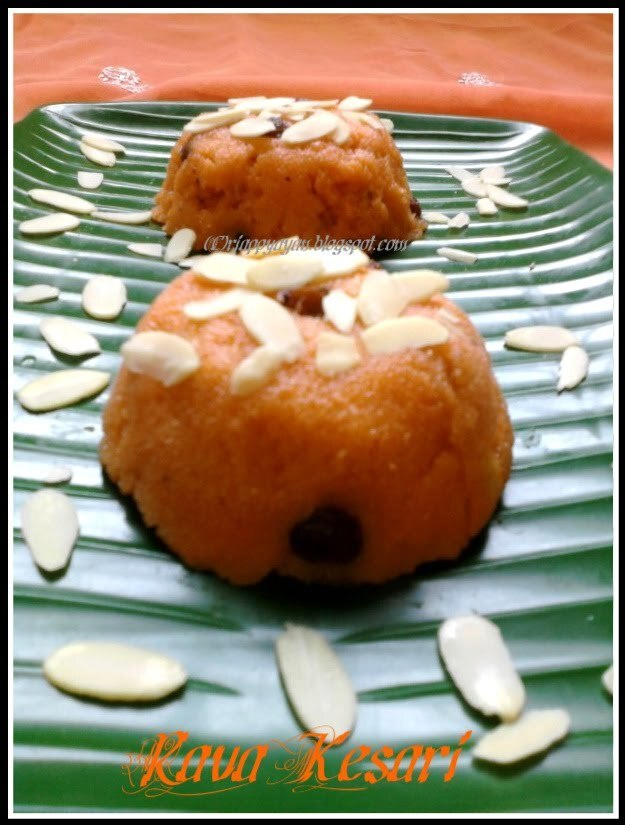Rawa Kesari/Orange colored Suji Halwa