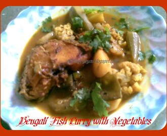 Tarkari diye Macher Jhol(Bengali fish curry with vegetables)