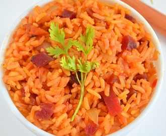 Beetroot Rice Recipe | Beetroot Pulao