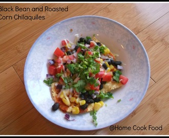 Black Bean and Roasted Corn Chilaquiles