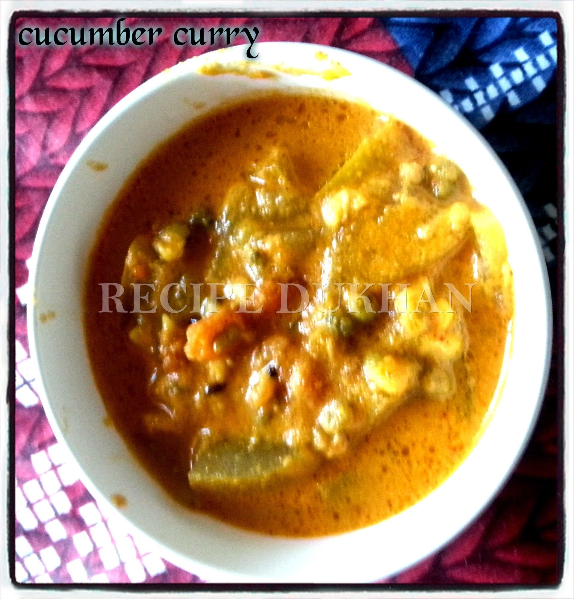 Cucumber Moong dal Curry