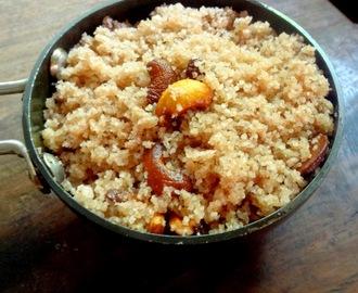 how to prepare red rice puttu flour