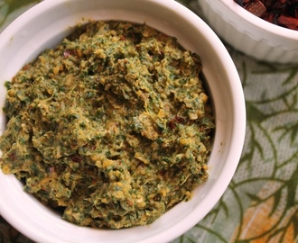 Vallarai Keerai Thuvaiyal Recipe / Vallarai Keerai Thogayal Recipe / Brahmi Leaves Chutney Recipe
