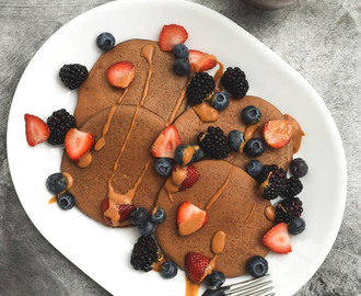 Single Serving Chocolate Protein Pancakes