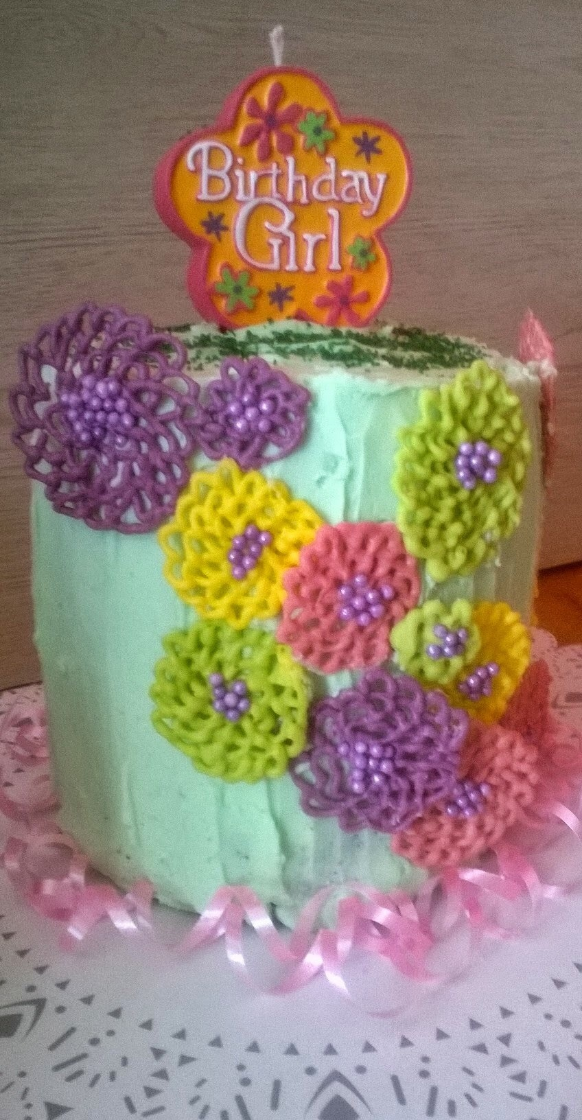 Pastel con Flores de Chocolate (Spring Time Flowers in Chocolate)