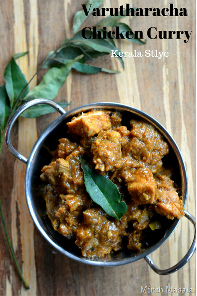 Varutharacha Chicken Curry ~ Kerala Style