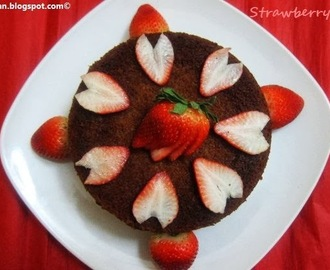 Valentine Day Special - Strawberry Cake Recipe /Cake using fresh Strawberries