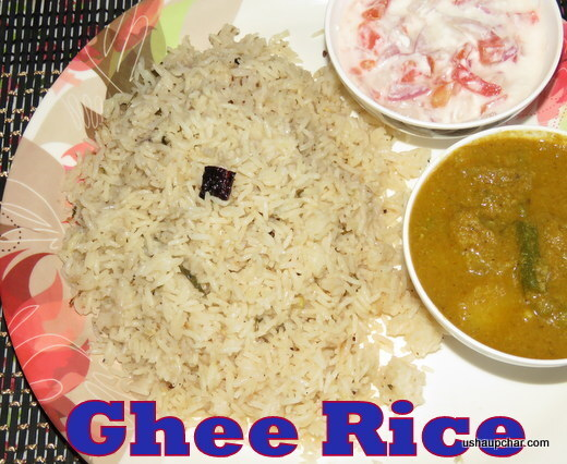Ghee rice I Plain masala rice