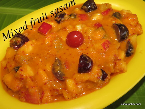 Fruit salad with coconut I Fruit sasam I Salad with fruits