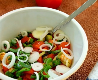 Recipe of Spring Onion & Tomato Salad | How to Make Spring Onion & Tomato Salad