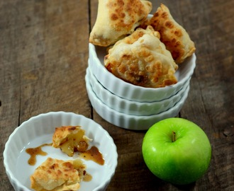 savory apple samosas