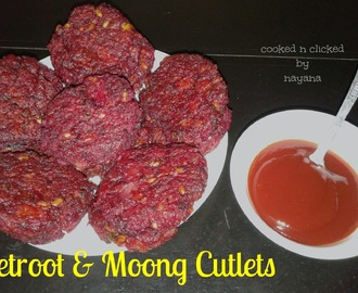 Beetroot and Moong Cutlets