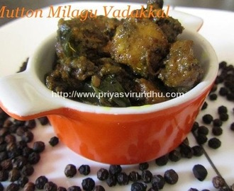Mutton Milagu Vadhakal/Mutton Blackpepper Fry