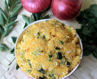 Corn Rava Upma - Corn Meal Upma - Simple and healthy breakfast, Dinner recipe