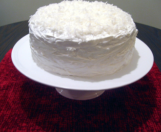 Darkened Red Velvet Snowball Cake