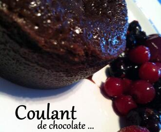 Coulant de chocolate y felices fiestas