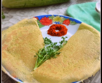 CUCUMBER DOSA / SOUTHEKAYI DOSE / CUCUMBER CREPES - INSTANT !!!