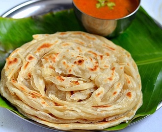 Parotta Recipe-How To Make Kerala Malabar Parotta(With Video)