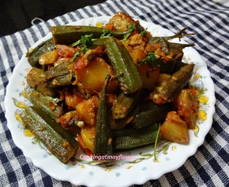 Bhindi Aloo masala / Ladies finger potato masala
